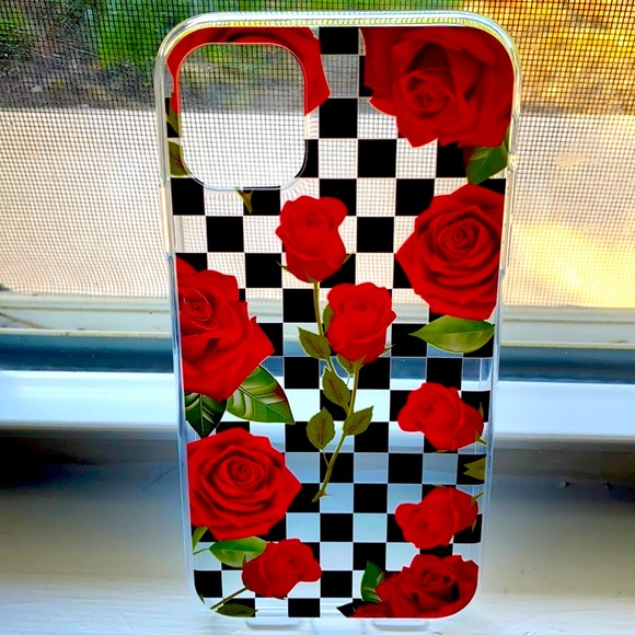 Rose checkered iPhone 11 case